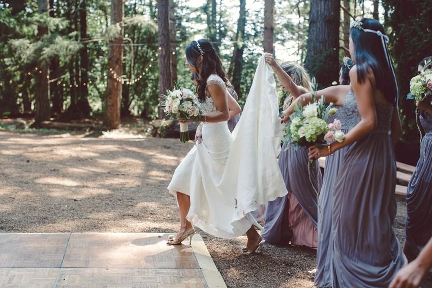 Elegant Bride & Lavender Bridesmaids