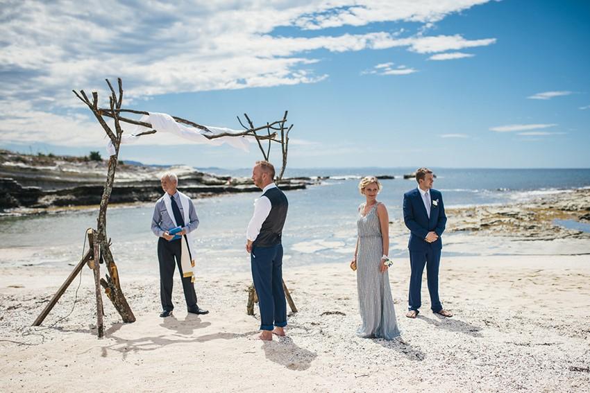 Boho Vintage Beach Wedding