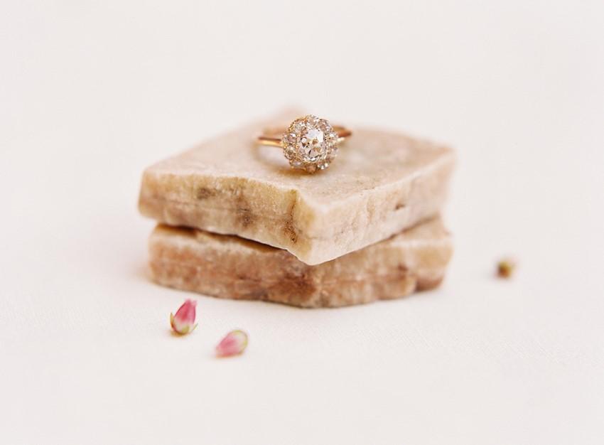 Romantic Gold Diamond Engagement Ring