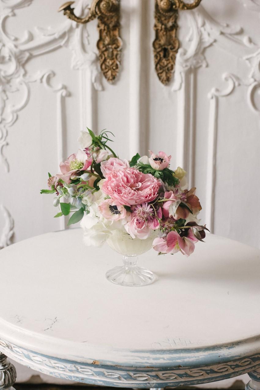 Romantic Pink Floral Wedding Centerpiece