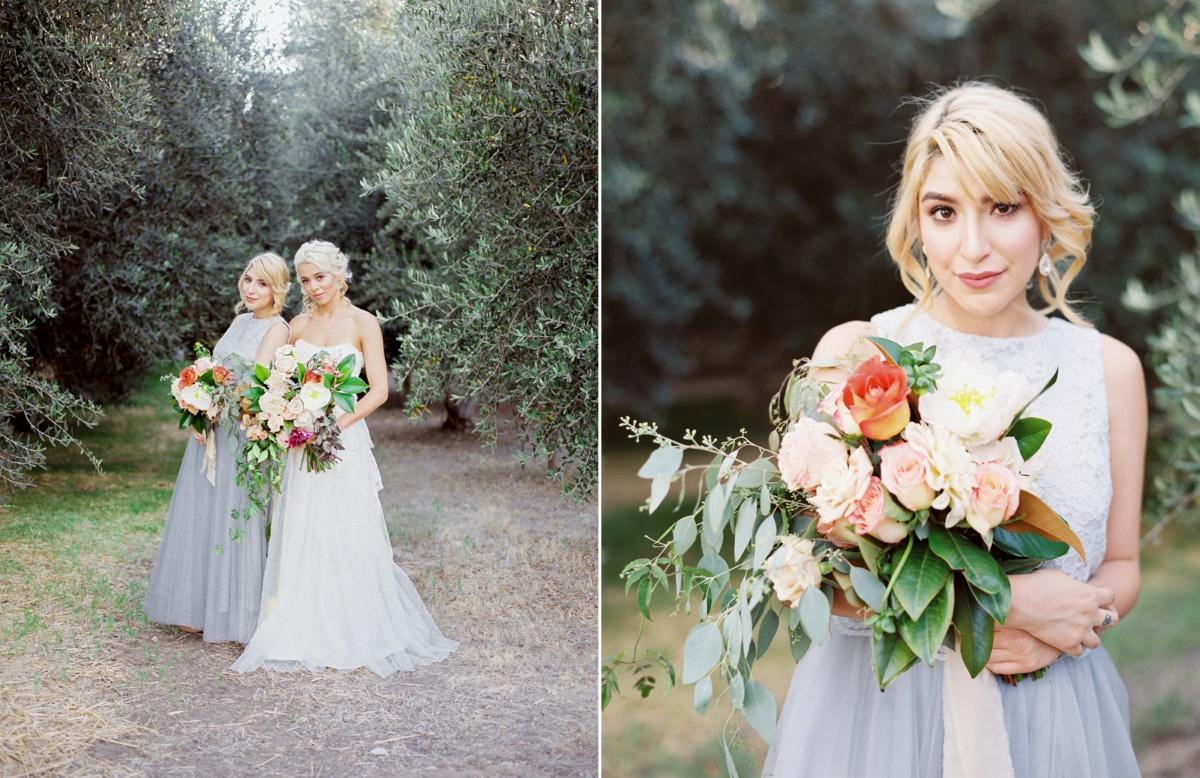 Romantic Blue & Peach Wedding