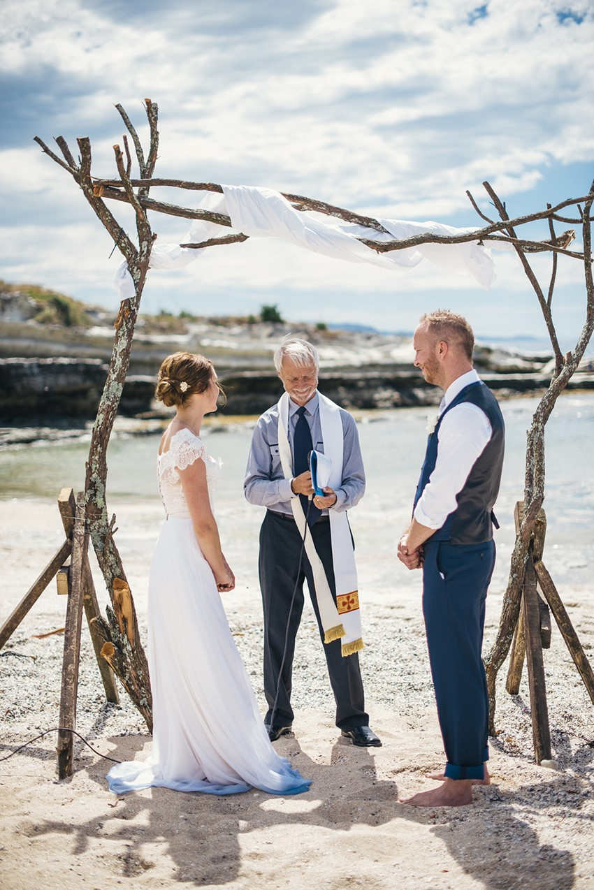 New Zealand Beach Wedding Ceremony