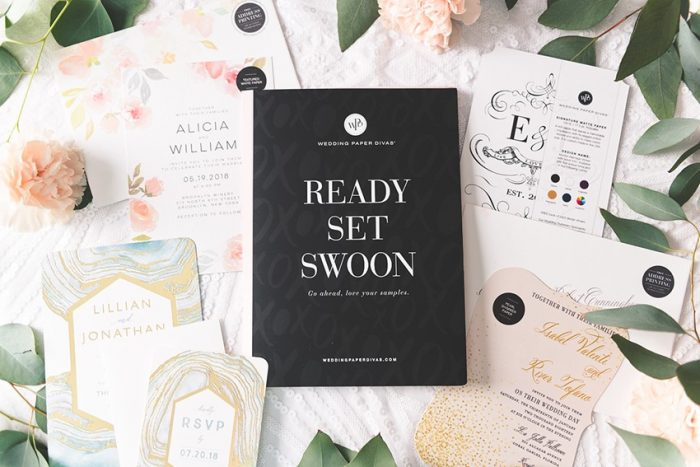 Beautiful Invitations from Wedding Paper Divas + Introducing Their Free Sample Kit