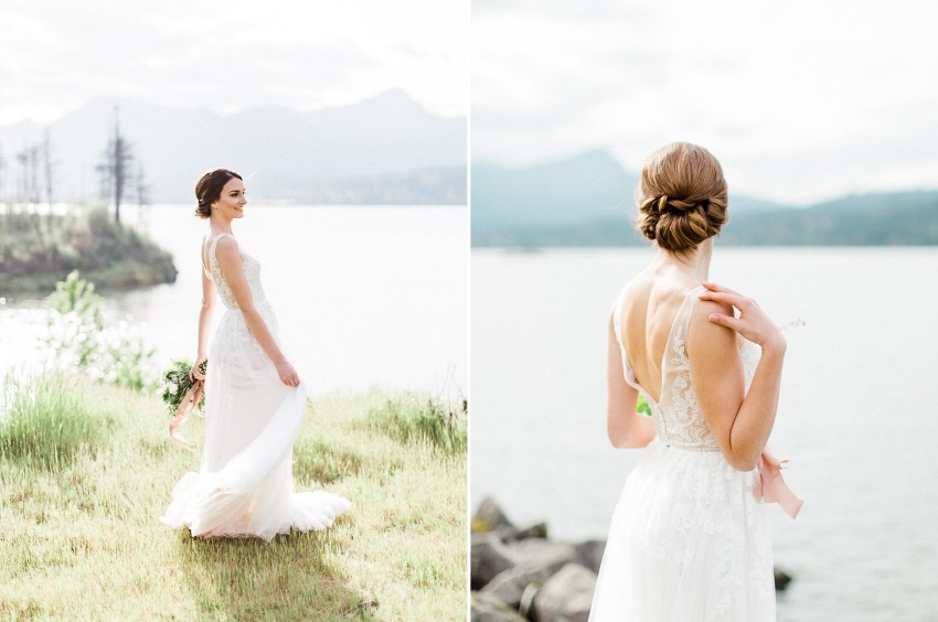 Romantic Elopement Bridal Look