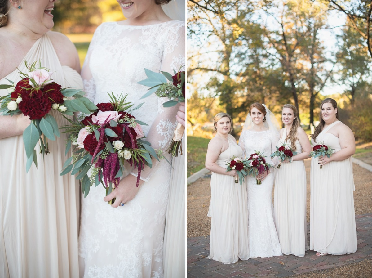 Vintage Inspired Bride & Bridesmaids