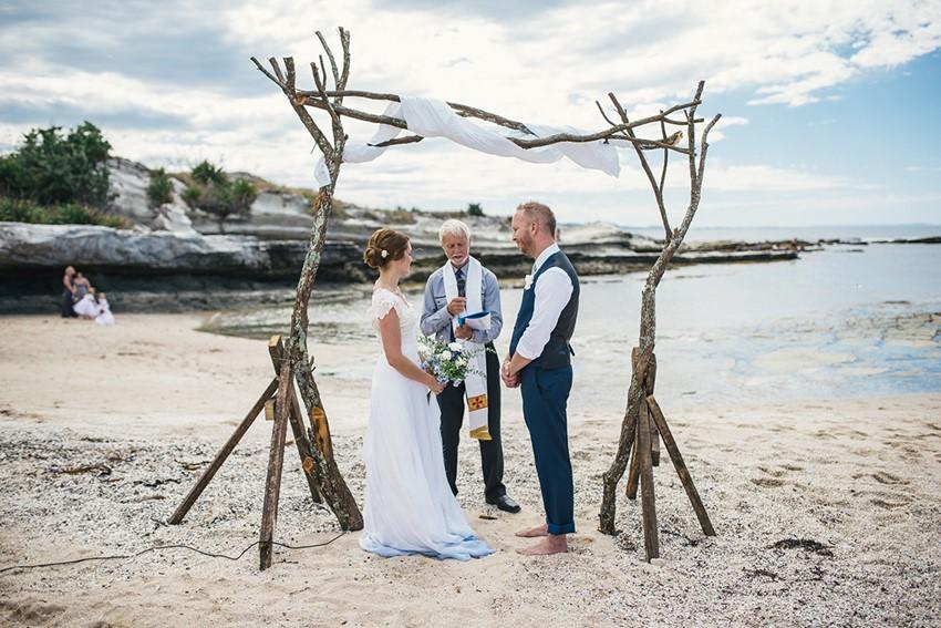 Boho Vintage Beach Wedding Ceremony