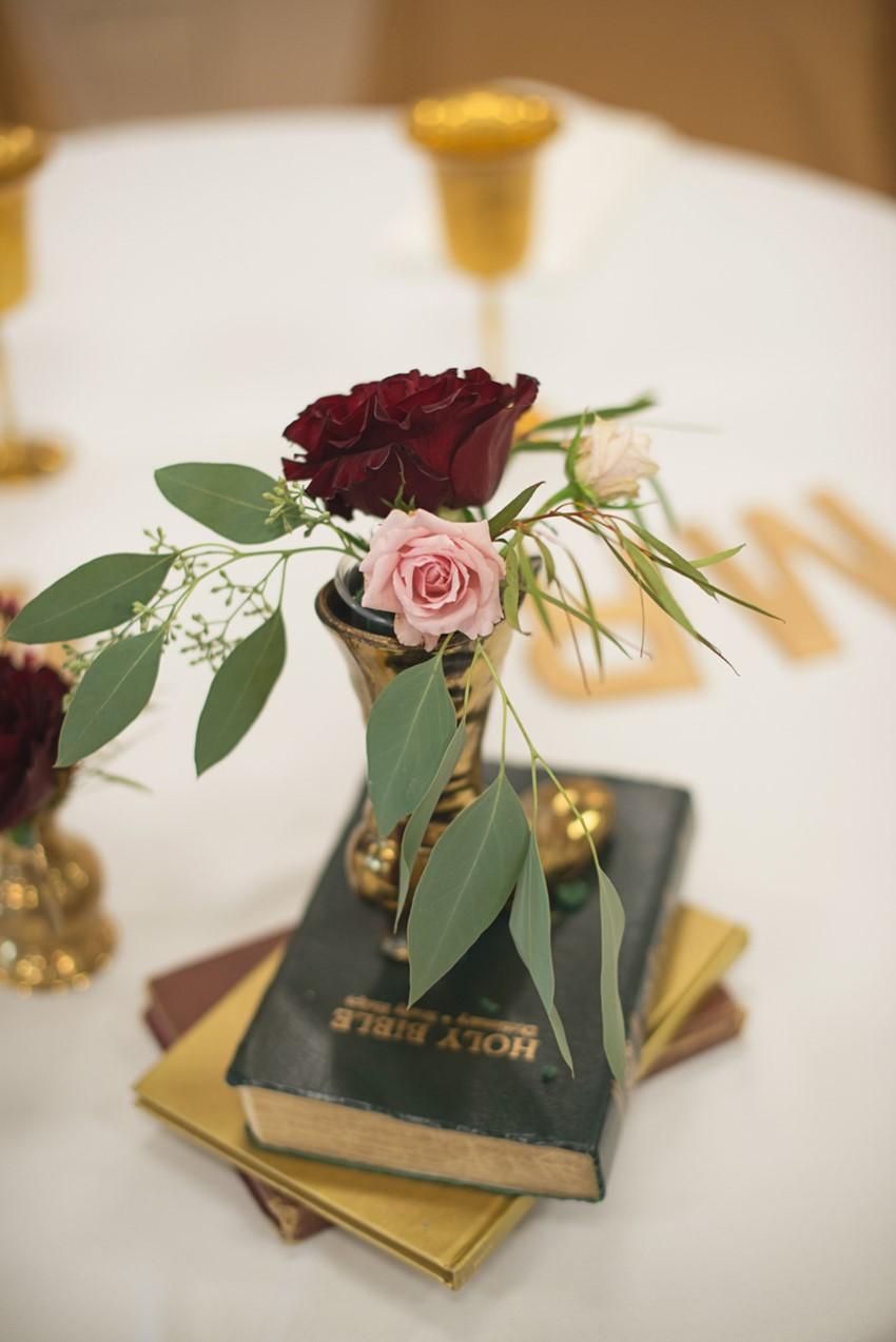 Vintage Inspired Wedding Centerpiece