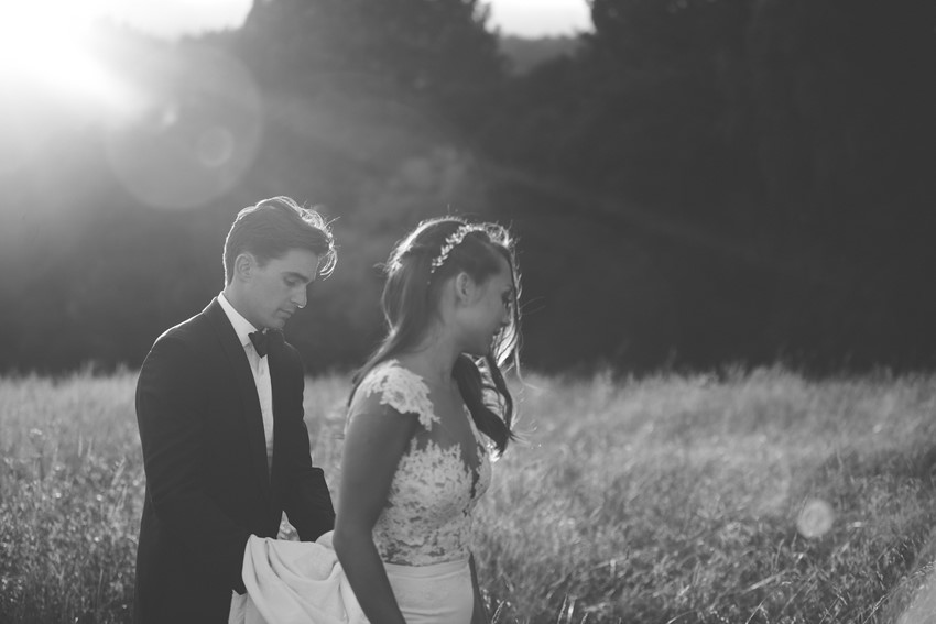 Elegant Sunset Wedding Photos
