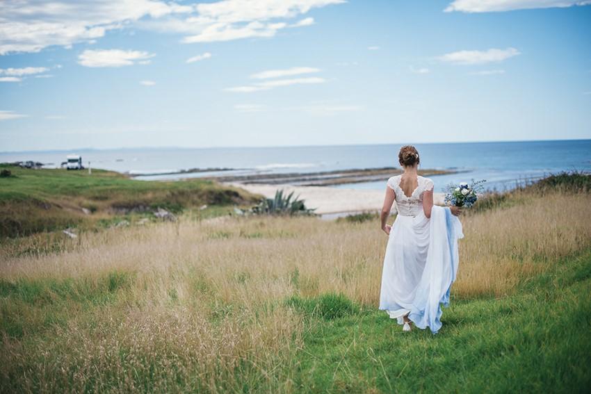 Blue Ombre Wedding Dress for a Beach Wedding