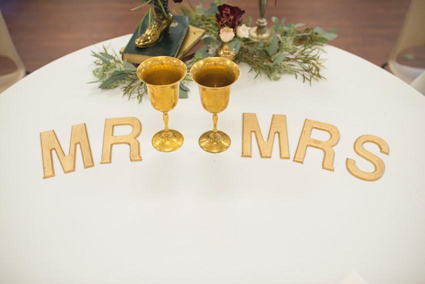 Vintage Inspired Wedding Sweetheart Table