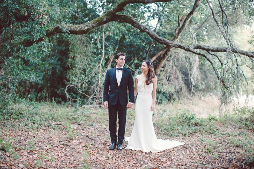 Woodland Bride & Groom