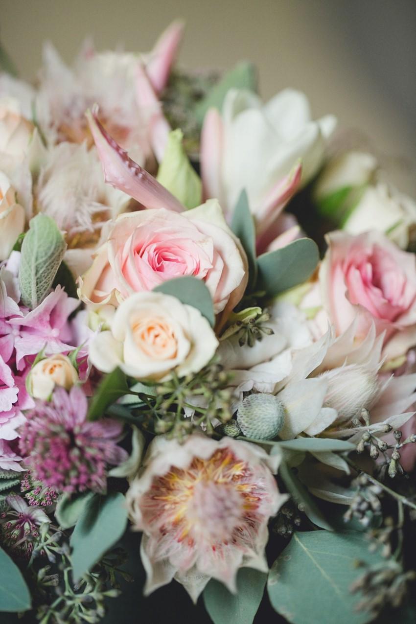 Pastel Pink & Purple Bridal Bouquet