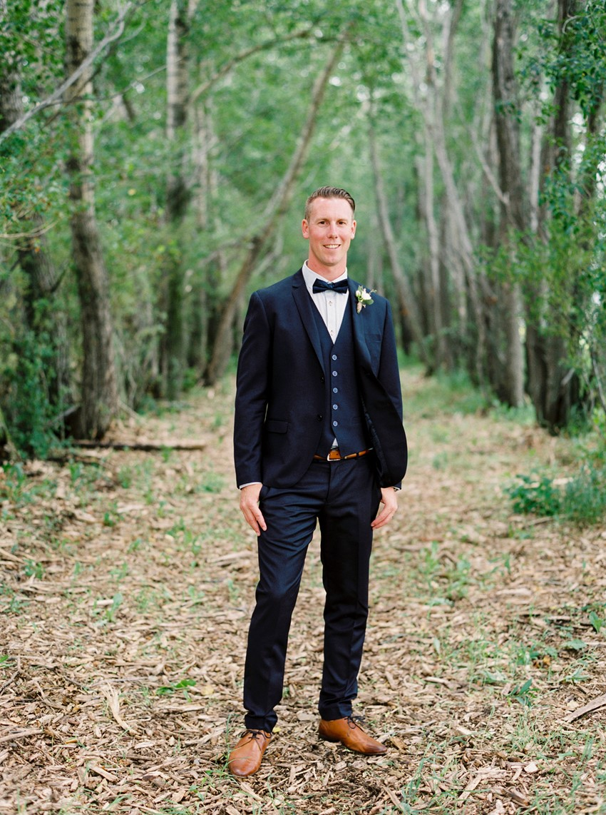 Navy Blue 3 Piece Groom's Suit