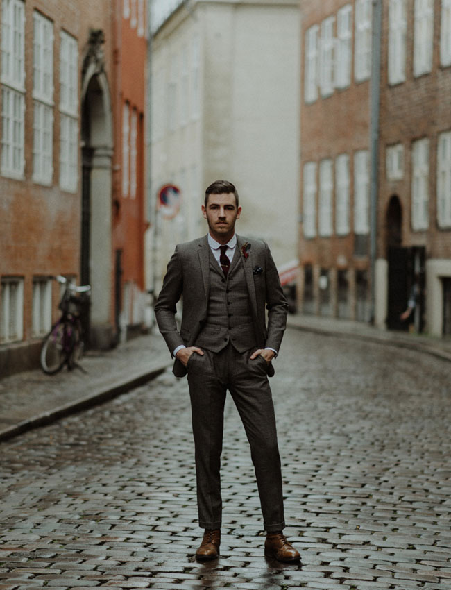 3 Piece Tweed Groom's Suit