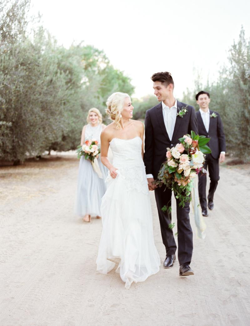 Romantic Olive Grove Wedding