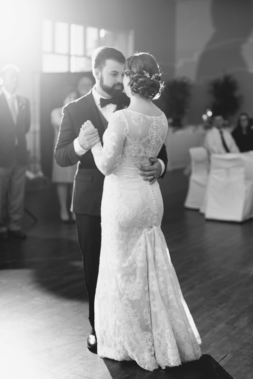 Romantic Black & White First Dance Photos