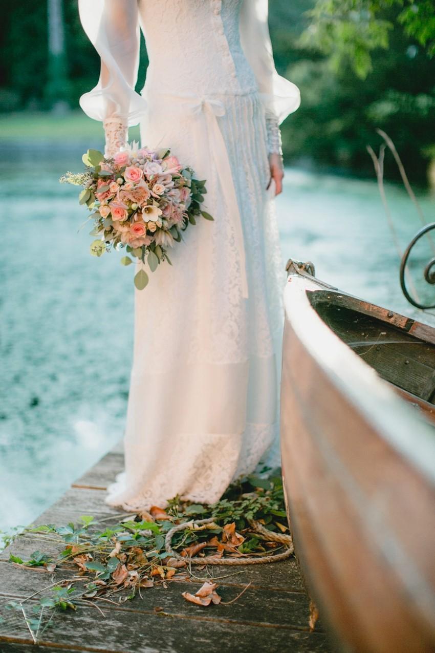 Vintage Bride & Bridal Bouquet