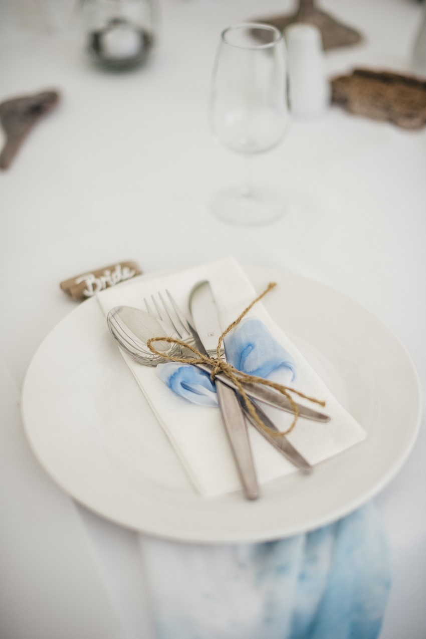 Simple Wedding Place Setting