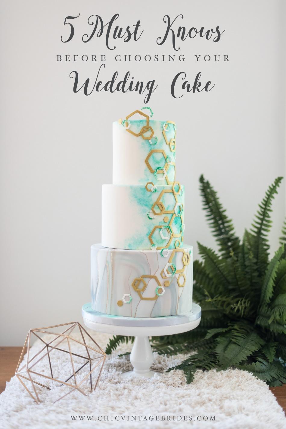 5 Wedding Cake Must Knows