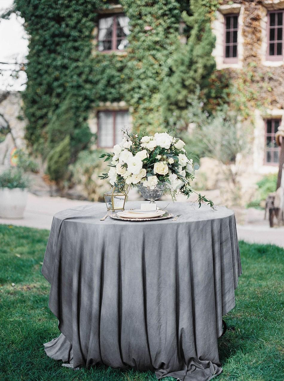 Old World Castle Wedding Sweetheart Table