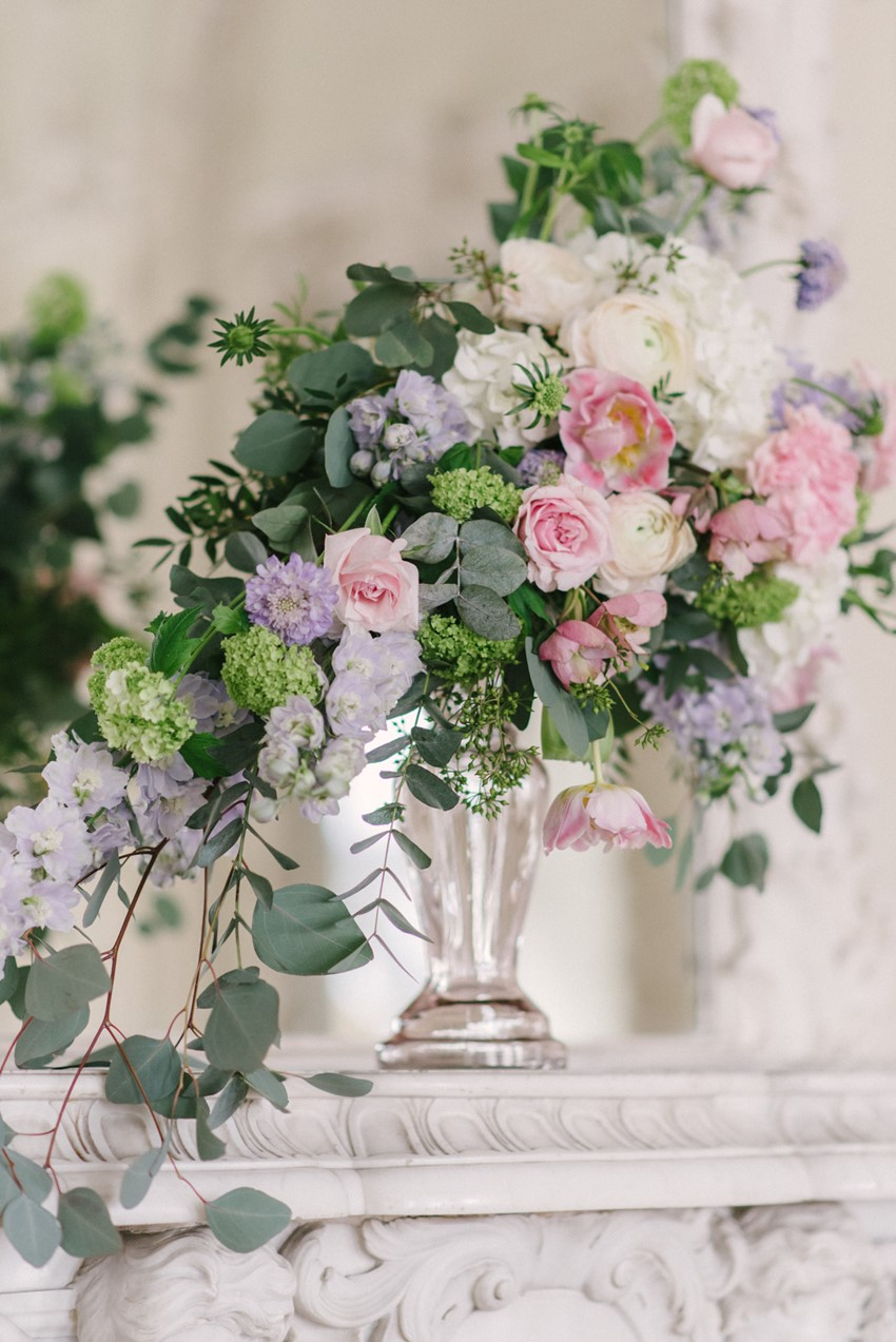 Romantic Pastel Pink & Purple Spring Florals