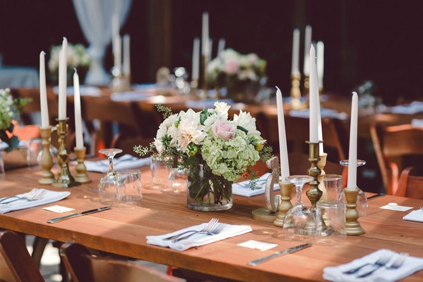 Woodland Wedding Reception Centerpiece