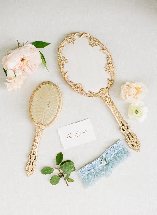 Aquamarine Bridal Garter
