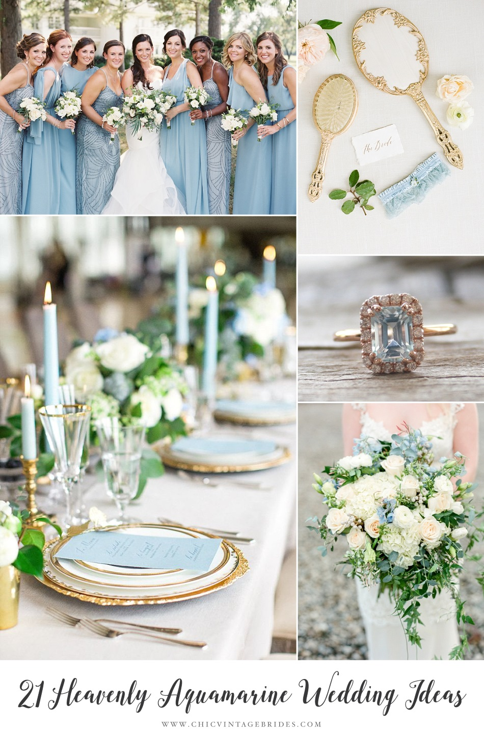 21 Ideas for a Beautiful Aquamarine Wedding - Chic Vintage Brides ...