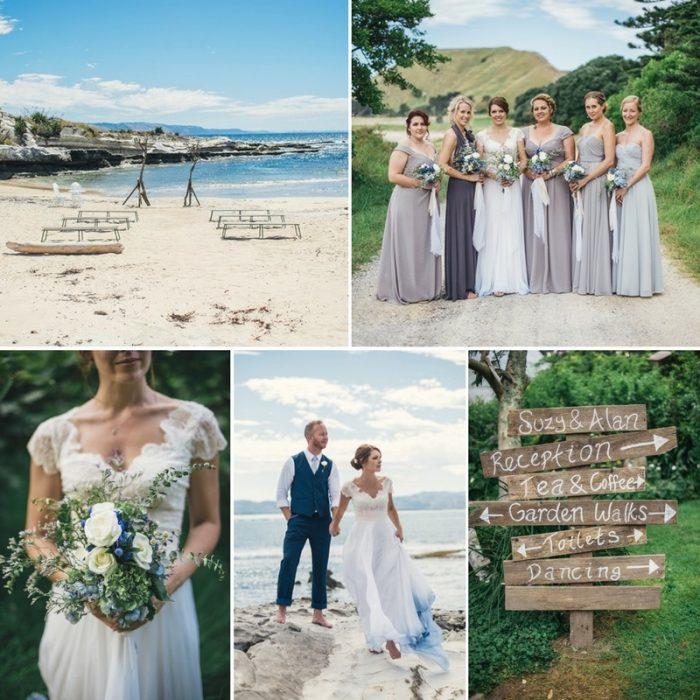 A Boho-Vintage Beach Wedding in New Zealand