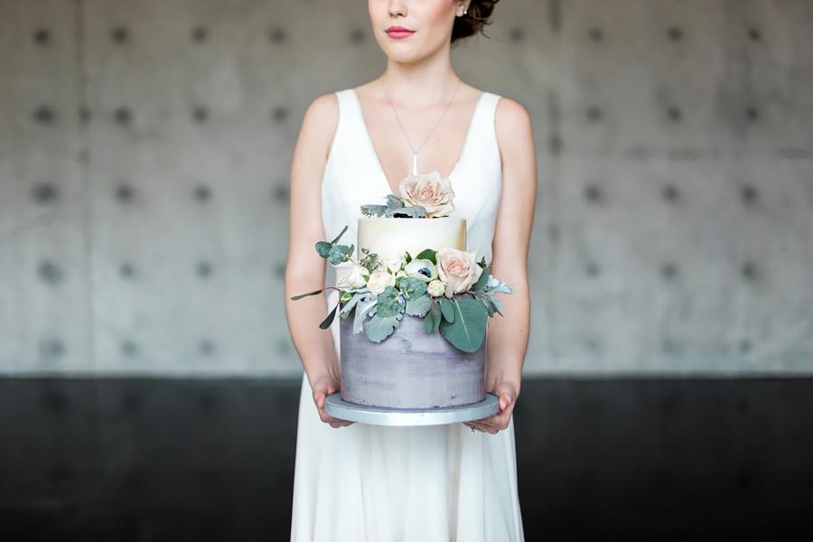 Floral Sugar Icing Wedding Cake
