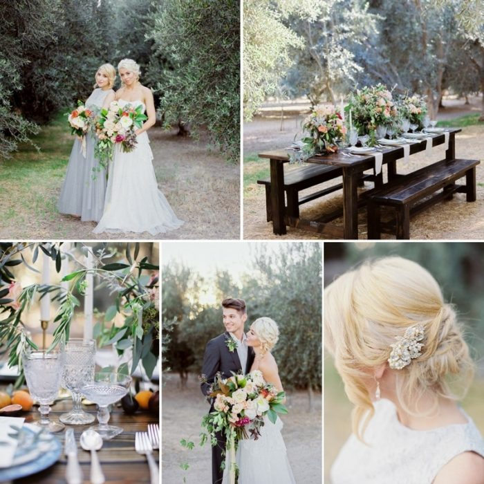 Romantic Tuscany Inspired Olive Grove Wedding Inspiration