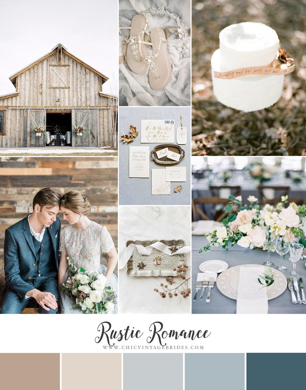7a886fa0c20 Rustic Romance - Beautiful Barn Wedding Inspiration in Blue   Neutrals