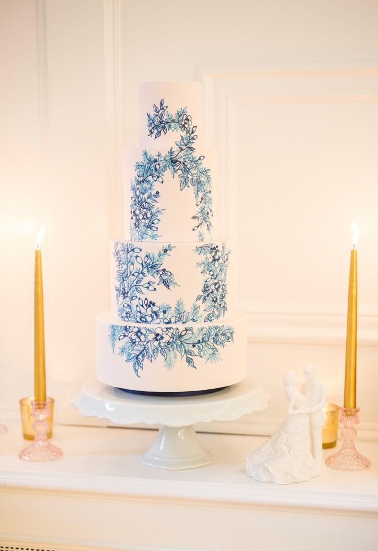 Painted Dream Wedding Cake