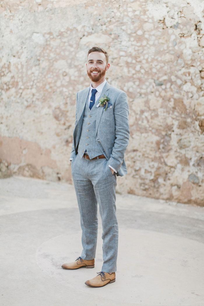 Groom Wearing a Tie Bar
