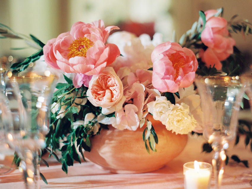 Summer Wedding Floral Centerpiece