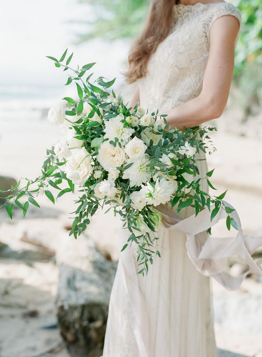 Organic Greenery Bridal Bouquet