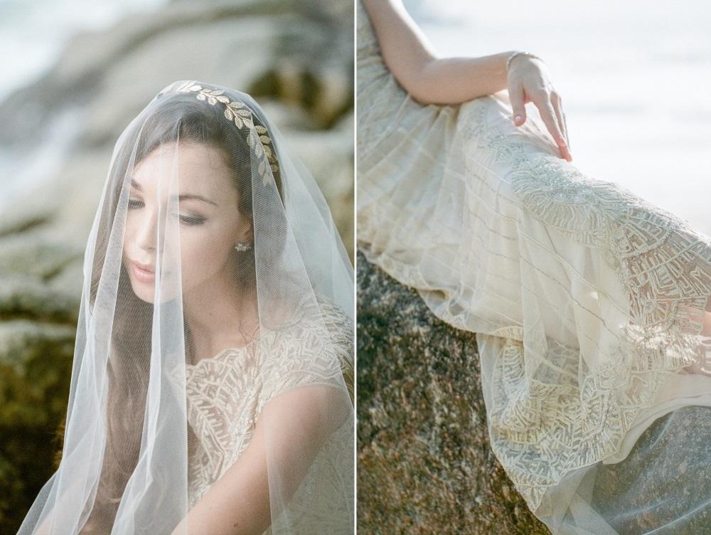 Romantic Vintage Beach Bride