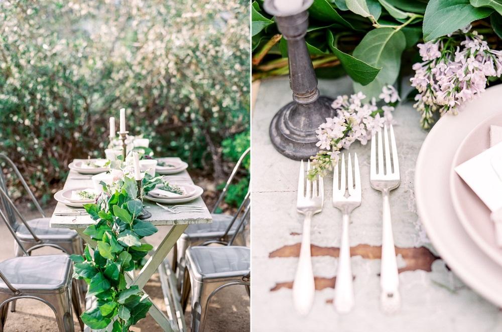 Organic Wedding Tablescape