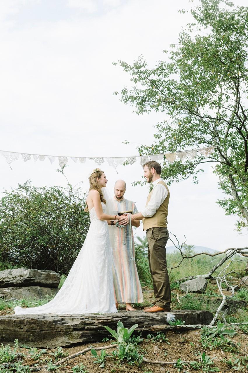 Boho Vintage Outdoor Wedding Ceremony