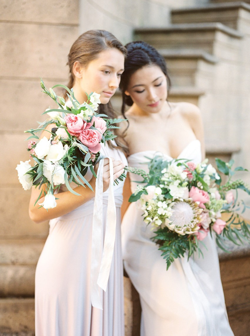 Modern Vintage Bride and Bridesmaid