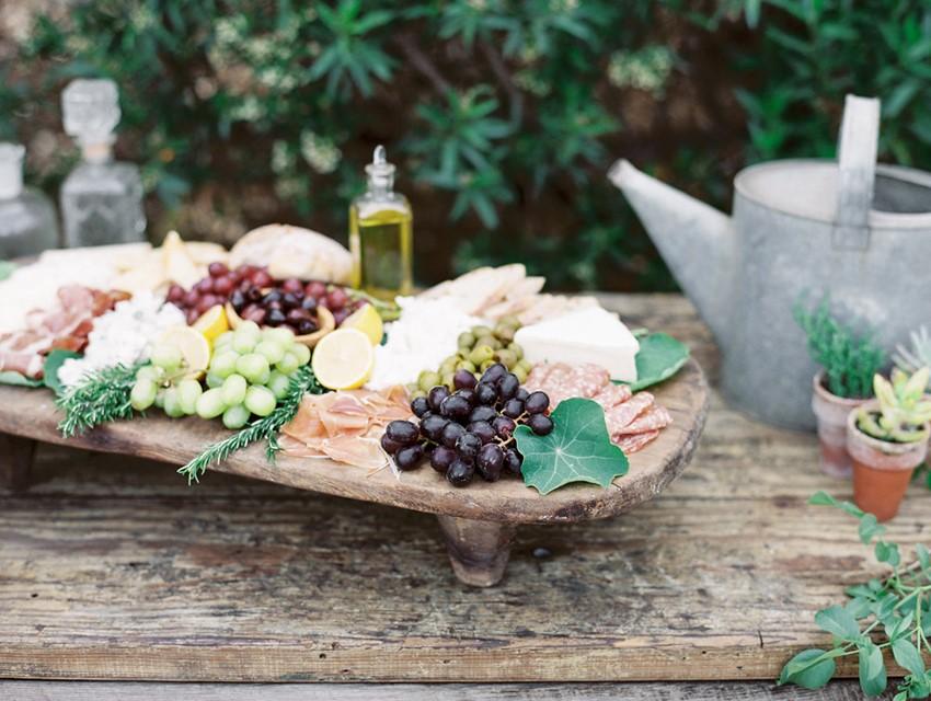 Organic Farm-to-Table Wedding Cheese Platter
