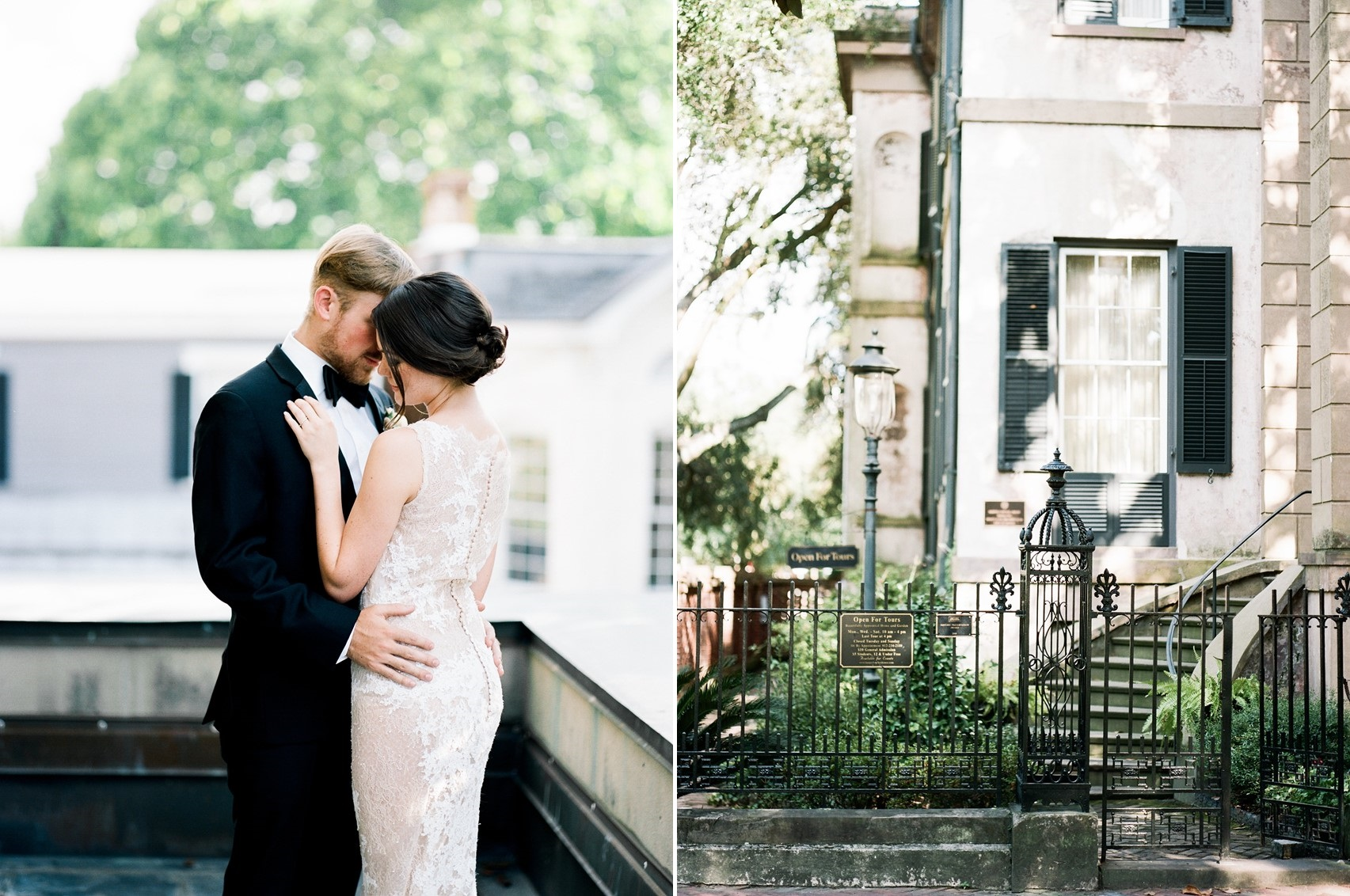Romantic Modern Vintage Savannah Elopement