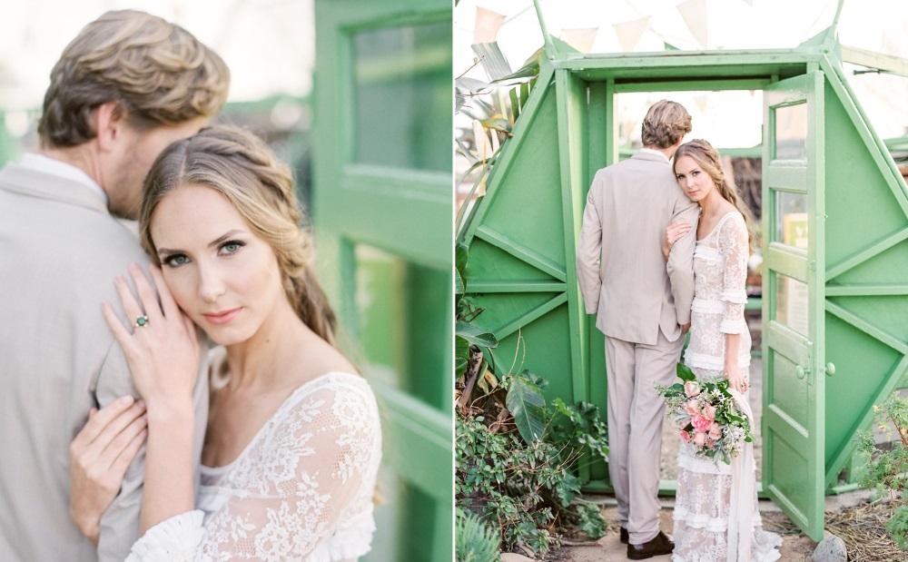 Farm to Table Wedding Bride & Groom