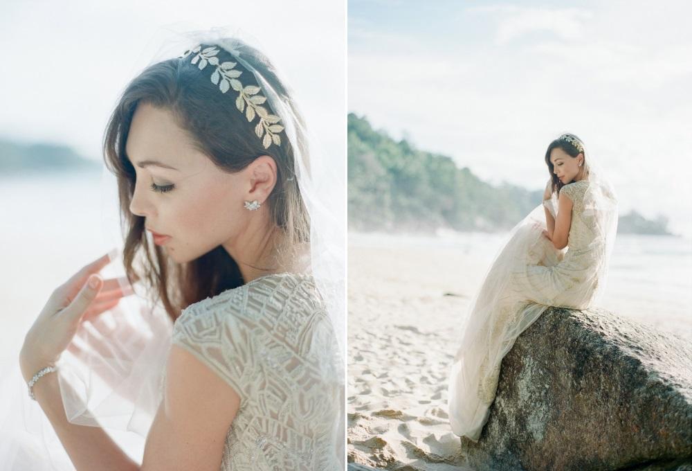 Romantic Beach Wedding Bridal Look