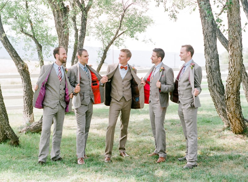 Vintage Inspired Groom & Groomsmen