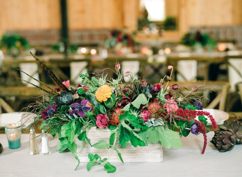Rustic Vintage Wedding Floral Planter Box Centerpiece