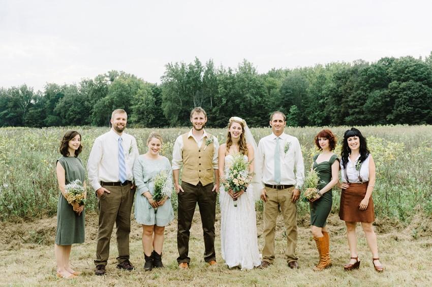 Boho Vintage Outdoor Wedding Party