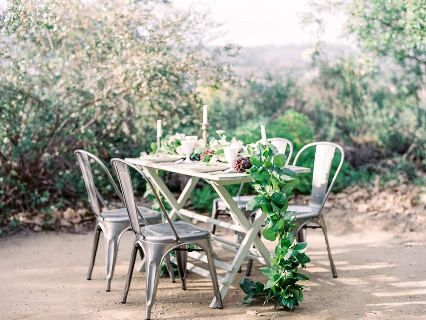 Organic Farm-to-Table Wedding Tablescape