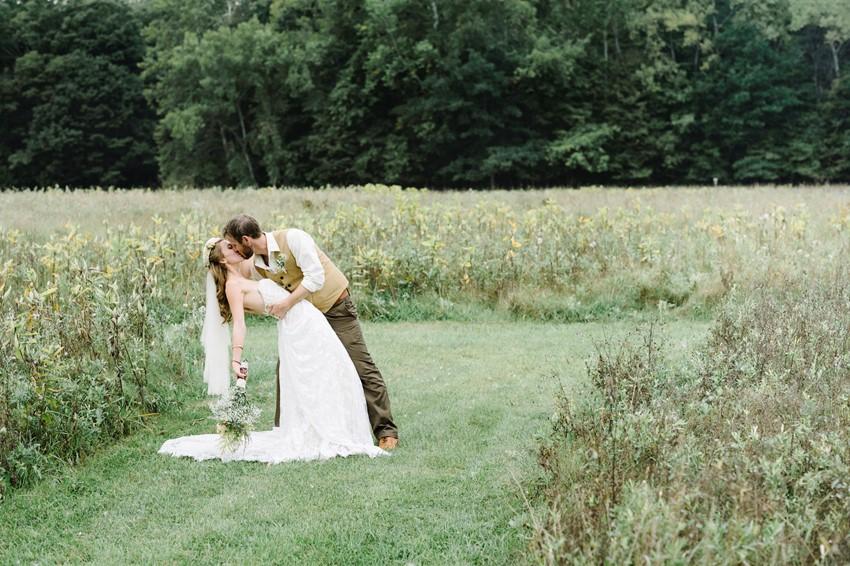 Woodland Themed Wedding Bride & Groom