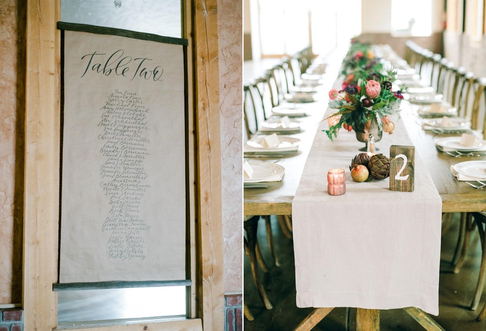 Rustic Vintage Wedding Table Plans